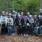 Gruppenbild mit Kletter-Ausrüstung
